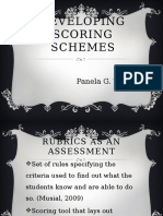 Developing Scoring Schemes