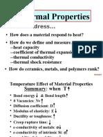 3 Thermal Properties