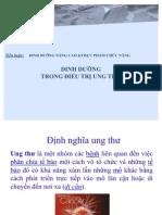 Dinh Duong Trong Qua Trinh Dieu Tri Ung Thu