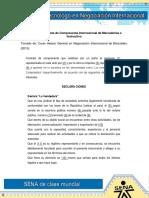 1) Modelo de Contrato de Compraventa Internacional de Mercaderias e Instructivo
