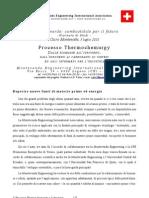 Relazione convegno Cairo Montenotte 3/7/2010, processo Thermochemurgy