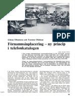 Förnamnsinplacering ny princip i telefonkatalogen / Göran Olausson och Torsten Olofsson