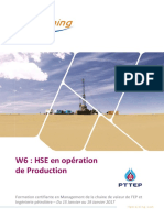 Hse en Operation de Production