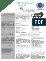 Technocrat Even semester March 2016 issue - New letter