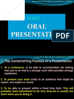 UNIT 7- Oral Presentation