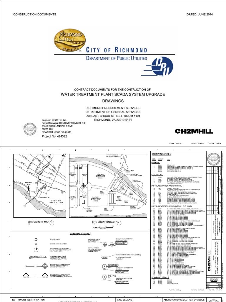 K140028288 RichmondWTP SCADAupgrade BidDocs Drawings