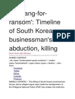 Tokhang - News Report