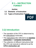 Chapter 3 - Instruction Format
