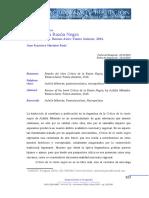 Juan Francisco Martinez Peria - Reseña de Crítica de la Razón Negra Achille Mbembe. Buenos Aires