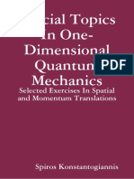 Special Topics In One-Dimensional Quantum Mechanics