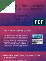 Análisis y Funcionamiento de Las Especificaciones