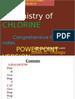 Chemistry of Chlorine Pwpts
