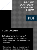 ''9. a. Signs and Symptoms of Psych Illness