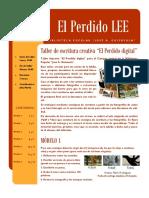 """Taller Literario """"El Perdido digital"""""""