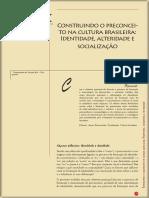 Gomes - Construindo o preconceito na cultura brasileira - identidade, alteridade e socialização