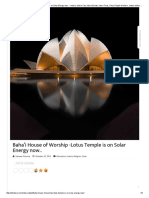 Baha'i House of Worship -Lotus Temple is on Solar Energy Now.