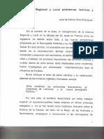 Historia Regional y Local Problemas..