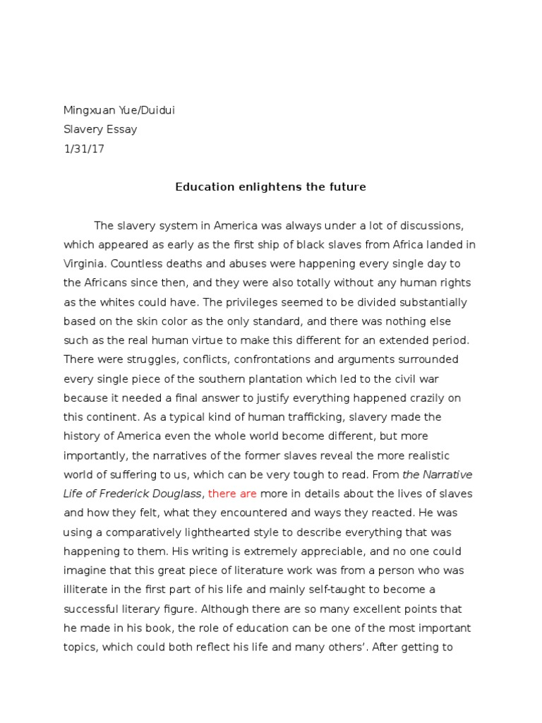 Slavery Essay Examples - Free Research Papers on blogger.com