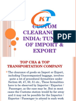 Custom Clearance in India Tunnel of Import & Export