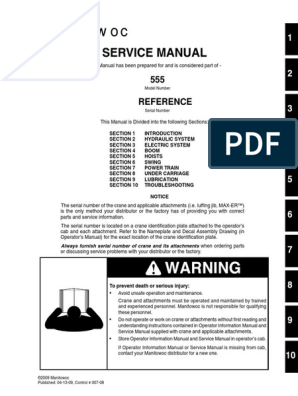 555 Service Manual   Crane (Machine)   Calibration