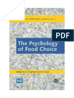 R. Shepherd, M. Raats-The Psychology of Food Choice (Frontiers in Nutritional Science)-CABI (2010)