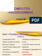 computer programming lecture 6