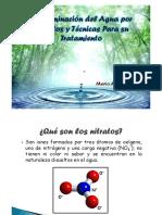 Contaminación de Aguas Por Nitratos