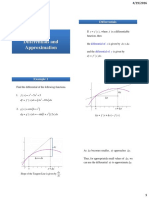 Differentials and Approximation