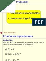 3.2 Ecuaciones Exponenciales y Logaritmicas