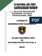 Modulo Documentacion Policial II