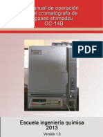 Manual de Operación Cromatografo de Gases-1