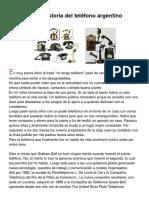 Breve Historia Del Teléfono Argentino