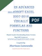 Learn Advanced Microsoft Excel 2007 2010 2013 2016 Visually Formulas Functions eBook