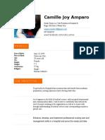 Camille Joy Amparo RESUME
