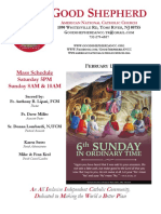 Good Shepherd American National Catholic Church Bulletin