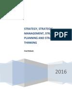 Strategy_Strategic Management_Strategic Planning & Strategic Thinking