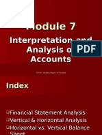 Module 7.1 Interpretation and Analysis of Accounts 17.10.12