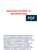Rheologie Des Melanges Frais