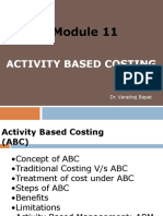 Module 11. Activity Based Costing