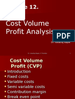 Module 12. Cost Volume Profit Analysis 22.06.2012