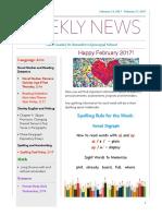 weekly newsletter- feb 13- feb  17