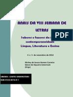 Anais Da VIII Semana de Letras Do UNIABEU - Shirley Carreira & Edson Estarneck