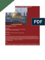 Brief History of Hazrat Lal Shehbaz Qalandar R