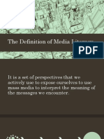 The Definition of Media Literacy