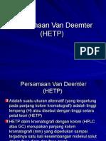 2. Persamaan Van Deemter