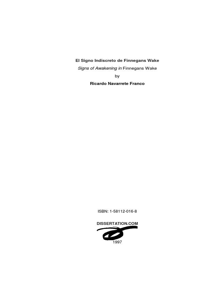 Navarrete Franco, Ricardo -El Signo Indiscreto de Finnegans Wake