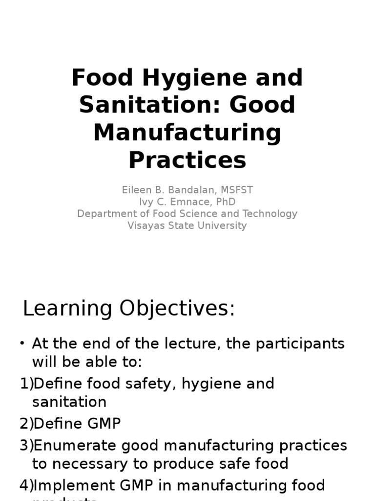 GMP Training Tolosa | Hygiene | Sanitation