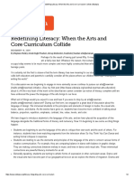 redefining literacy  when the arts and core curriculum collide   edutopia
