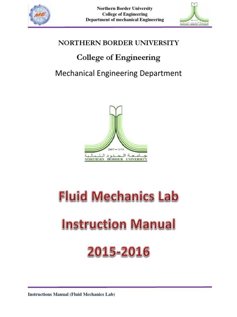 08 Instruction Manul of Fluid Mechanics Lab | Reynolds Number