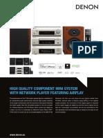 Denon D F109 Brochure